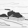 Photographie dart : Tombe du Petit Mousse à Port-Navalo - Galerie photos Dessins